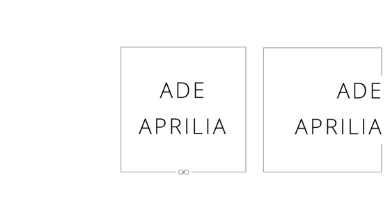 Ade Aprilia's Secondary Logo + Submark